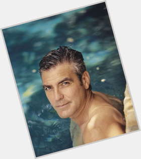 George Clooney salt and pepper hair & hairstyles Average body,
