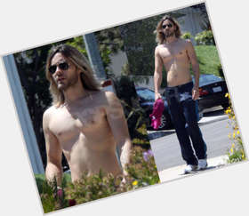 Jared Leto light brown hair & hairstyles Slim body,