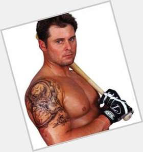 Jason Giambi light brown hair & hairstyles Athletic body,