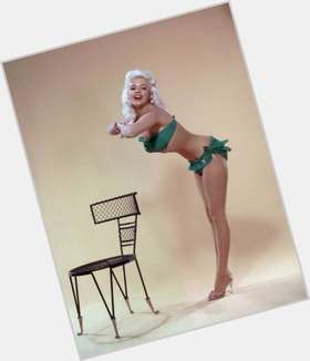 Jayne Mansfield dyed blonde hair & hairstyles Voluptuous body,