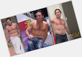 Jeff Probst dark brown hair & hairstyles Athletic body,