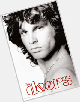 Jim Morrison dark brown hair & hairstyles Average body,