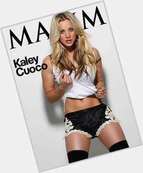 Kaley Cuoco dyed blonde hair & hairstyles Slim body,