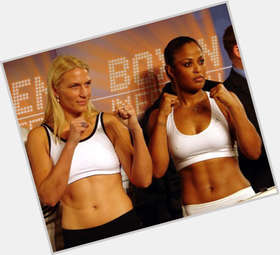 Laila Ali dark brown hair & hairstyles Athletic body,