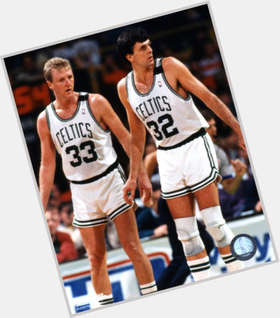 Larry Bird blonde hair & hairstyles Athletic body,