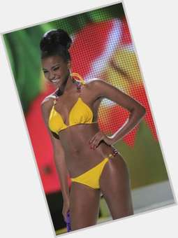 Leila Lopes dark brown hair & hairstyles Athletic body,