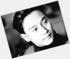 Leslie Cheung dark brown hair & hairstyles Athletic body,