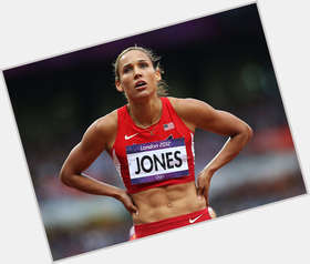 Lolo Jones light brown hair & hairstyles Athletic body,