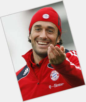 Luca Toni dark brown hair & hairstyles Athletic body,