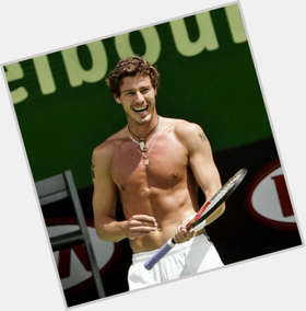 Marat Safin light brown hair & hairstyles Athletic body,
