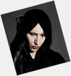 "<a href=""/hot-men/marilyn-manson/is-he-satanic-married-racist-bi-evil-nice"">Marilyn Manson</a> Slim body,  dyed black hair & hairstyles"