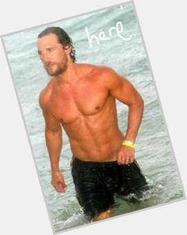 Matthew Mcconaughey light brown hair & hairstyles Athletic body,