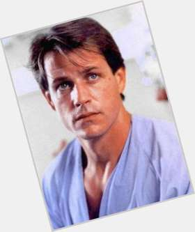 Michael Pare dark brown hair & hairstyles Athletic body,