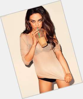 Mila Kunis dark brown hair & hairstyles Slim body,
