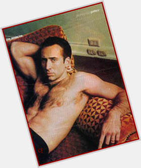 Nicolas Cage dark brown hair & hairstyles Athletic body,