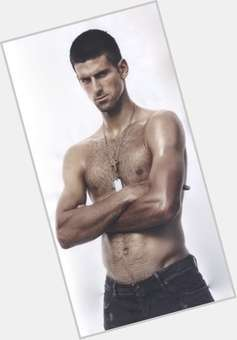 Novak Djokovic dark brown hair & hairstyles Athletic body,