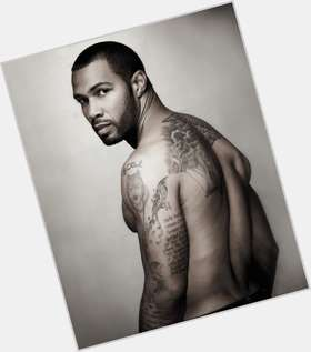Omari Hardwick dark brown hair & hairstyles Athletic body,