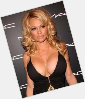 Pamela Anderson dyed blonde hair & hairstyles Athletic body,