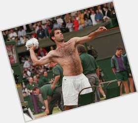 Pete Sampras dark brown hair & hairstyles Athletic body,