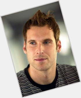 Petr Cech dark brown hair & hairstyles Athletic body,