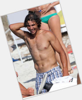 Rafael Nadal dark brown hair & hairstyles Athletic body,