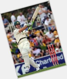 Ricky Ponting dark brown hair & hairstyles Athletic body,