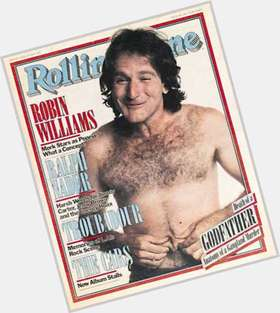 Robin Williams salt and pepper hair & hairstyles Average body,