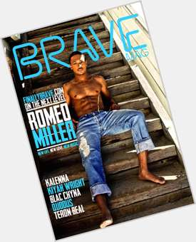 Romeo Miller black hair & hairstyles Athletic body,