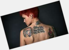 Ruby Rose dark brown hair & hairstyles Athletic body,
