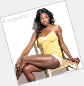 Rutina Wesley black hair & hairstyles Athletic body,
