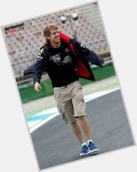 Sebastian Vettel light brown hair & hairstyles Athletic body,