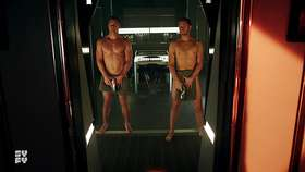 Luke Macfarlane & Aaron Ashmore Shirtless