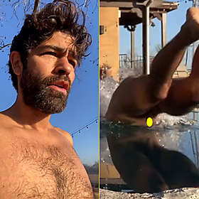 Adrian Grenier is Shirtless