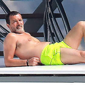Antonio Banderas is Shirtless