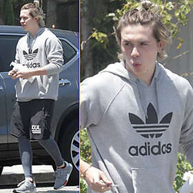 Brooklyn Beckham is Shirtless