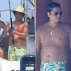 Bruno Mars is Shirtless
