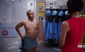 Eugene Byrd & David Boreanaz Shirt Off in Bones Latest Episode 9×12