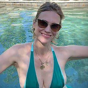January Jones in Bikini