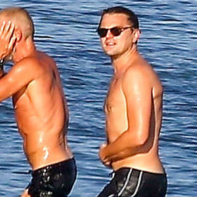 Leonardo DiCaprio is Shirtless