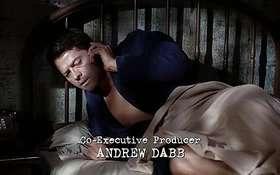 Misha Collins Shirtless in Supernatural 10x01