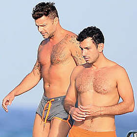 Ricky Martin is Shirtless