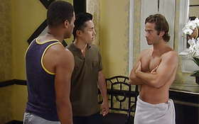 Ryan Carnes in a Towel in 8/5 General Hospital