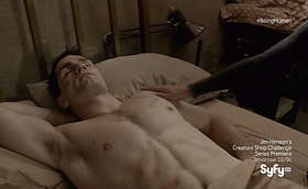 Sam Witwer and Sam Huntington Shirt Off in Being Human Latest Episode 4×10-11