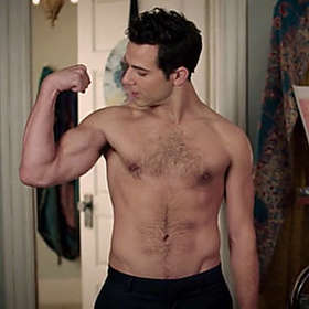 Skylar Astin is Shirtless