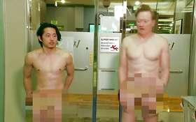 Steven Yeun & Conan Visit A Korean Spa