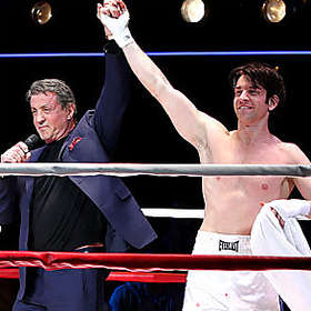 Shirtless Andy Karl with Sylvester Stallone on Broadway!
