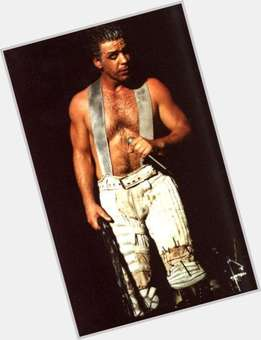 Till Lindemann dark brown hair & hairstyles Athletic body,