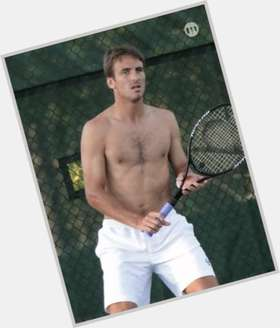Tommy Robredo dark brown hair & hairstyles Athletic body,