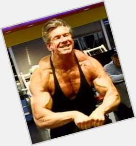 Vince Mcmahon light brown hair & hairstyles Athletic body,