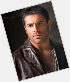 Wael Kfoury dark brown hair & hairstyles Athletic body,